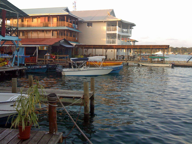 Hotels en terassen in Bocas del Toro in Panama