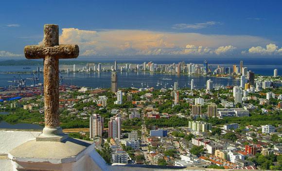 Cartagena de Indias desde el cerro La Popa