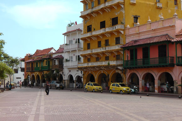 Koloniale panden in de oude stad van Cartagena