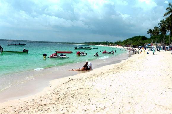 Het Playa Blanca op de Islas del Rosario bij Cartagena