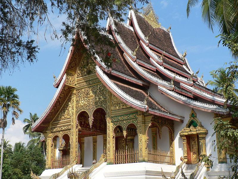Boedhistische tempel bij het Koninklijk Paleis in Luang Prabang-Laos