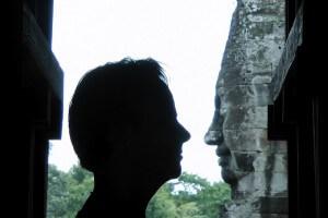 Michiel - En profiel bij de Bayon - Angkor in Cambodja